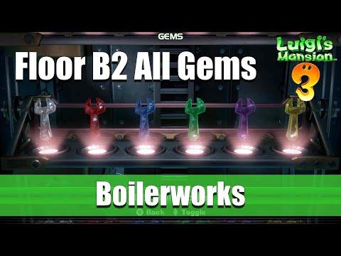 Luigi's Mansion - Floor B2 All Gem Locations (Boilerworks)
