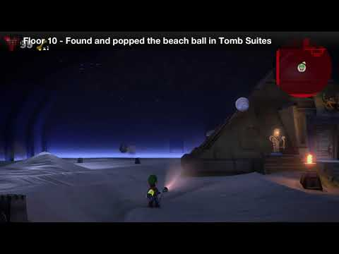 Luigi's Mansion 3 - Floor 10 Achievement - Found and popped the beach ball in Tomb Suites