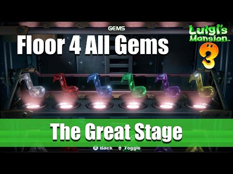 Luigi's Mansion 3 - 4F All Gem Locations