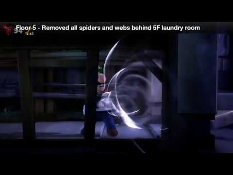 Luigi's Mansion 3 - Floor 5 Achievement - Removed all spiders and webs behind 5F laundry room