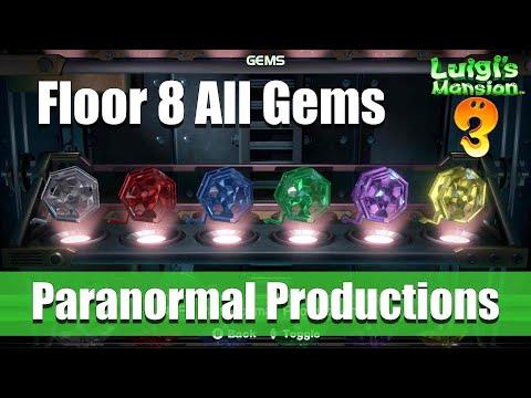 Luigi's Mansion 3 - 8F All Gem Locations