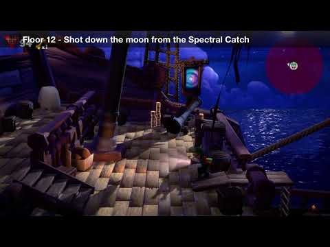 Luigi's Mansion 3 - Floor 12 Achievement - Shot down the moon from the Spectral Catch