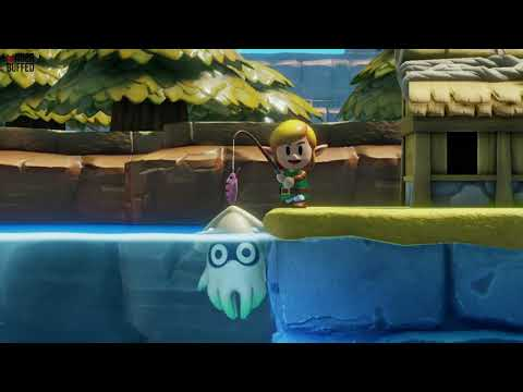 Link's Awakening - Secret Seashell Location (Mabe Village Fishing)
