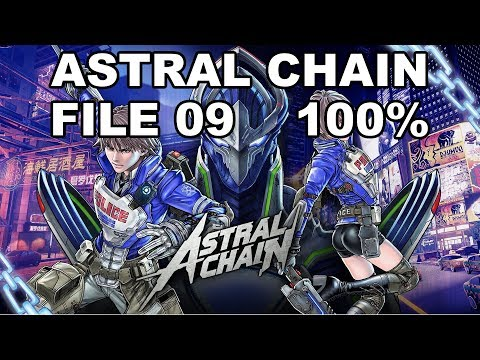 [Astral Chain] File 9 - 100% (Cases, Items, Photo Order, Toilet, Cat)