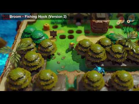 Link's Awakening - Trade Quest (Fishing Hook) - Both Versions