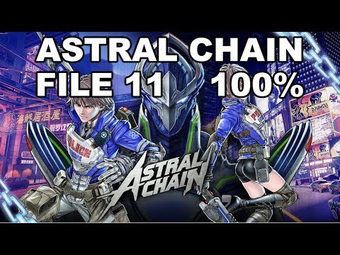 [Astral Chain] File 11 - 100% (Cases, Items, Photo Order, Toilet, Cat)