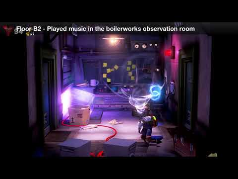 Luigi's Mansion 3 - Floor B2 Achievement - Played music in the boilerworks observation room
