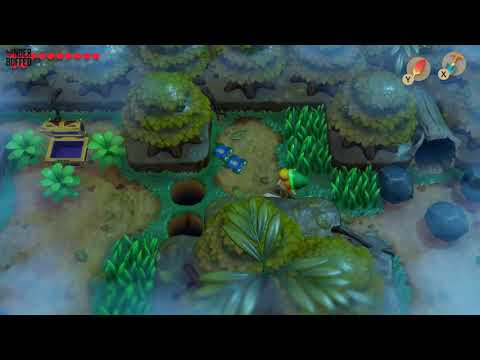 Link's Awakening - Secret Seashell Location (Mysterious Forest)