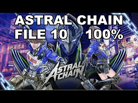 [Astral Chain] File 10 - 100% (Cases, Items, Photo Order, Toilet, Cat)