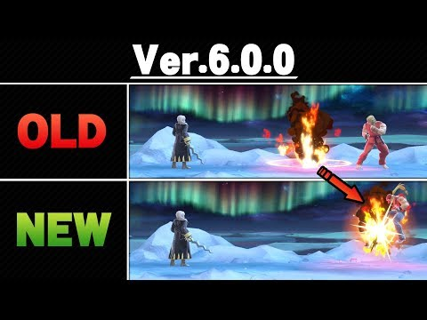 Smash Ultimate Patch 6.0.0 - Side By Side Comparison