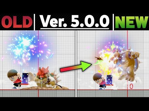 Smash Ultimate Patch 5.0.0 - Side By Side Comparison