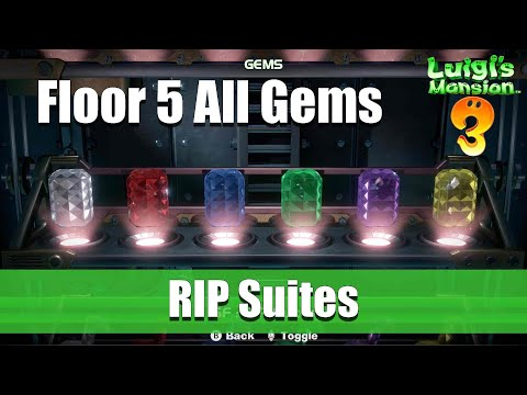 Luigi's Mansion 3 - 5F All Gem Locations
