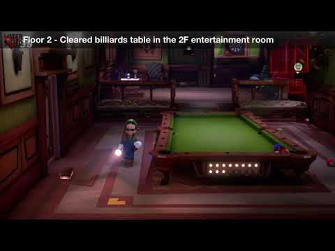 Luigi's Mansion 3 - Floor 2 Achievement - Cleared billiards table in the 2F entertainment room