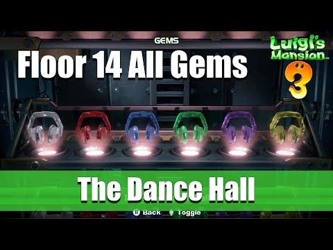 Luigi's Mansion - Floor 14 All Gem Locations