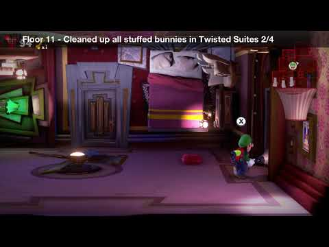 Luigi's Mansion 3 - Floor 11 Achievement - Cleaned up all stuffed bunnies inn Twisted Suites