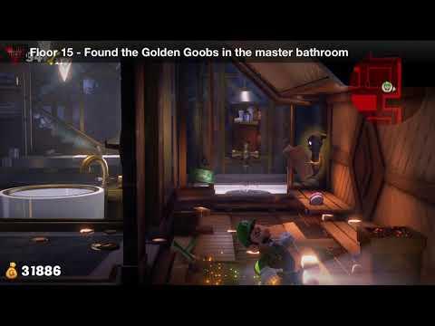 Luigi's Mansion 3 - Floor 15 Achievement - Found the Golden Goobs in the master bathroom
