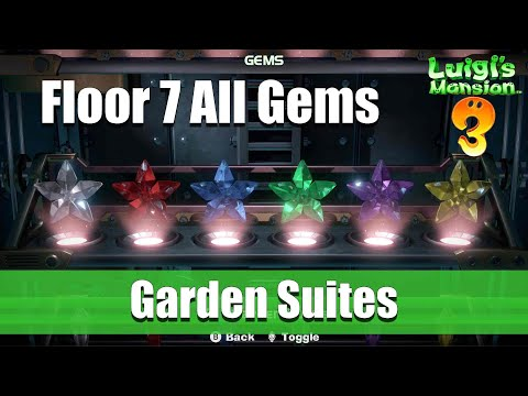 Luigi's Mansion 3 - 7F All Gem Locations