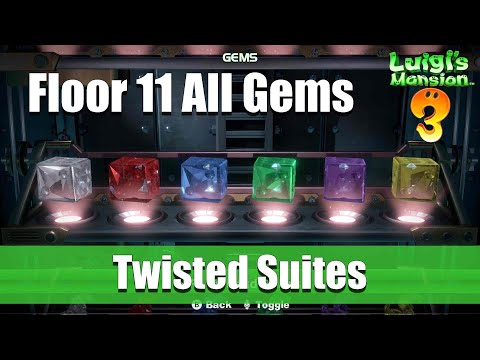 Luigi's Mansion 3 - 11F All Gem Locations