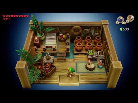Link's Awakening - Heart Piece Location (Rapids Ride)
