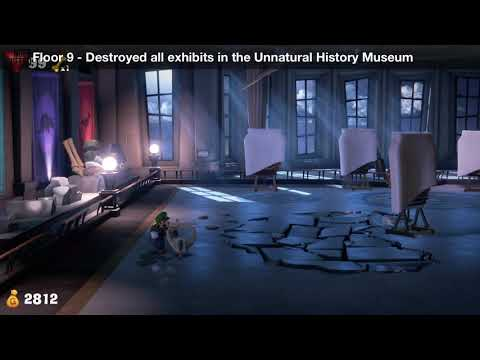 Luigi's Mansion 3 - Floor 9 Achievement - Destroyed all exhibits in the Unnatural History Museum