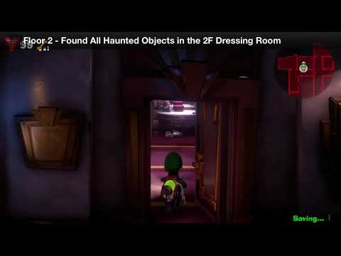 Luigi's Mansion 3 - Floor 2 Achievement - Found all haunted objects in the 2F dressing room