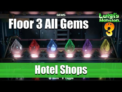 Luigi's Mansion 3 - Floor 3 All Gem Locations