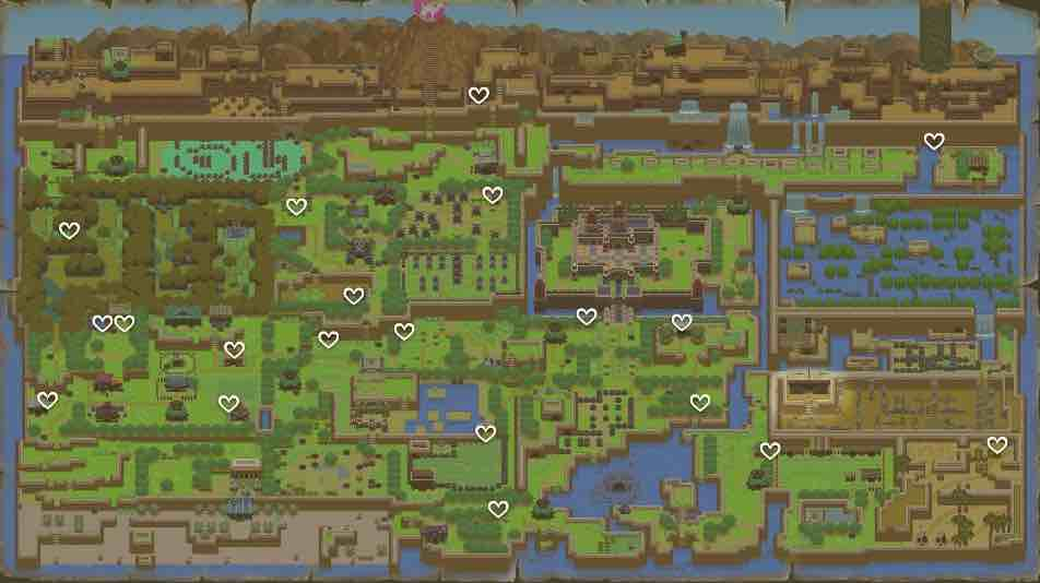 Link's Awakening Heart Piece Locations