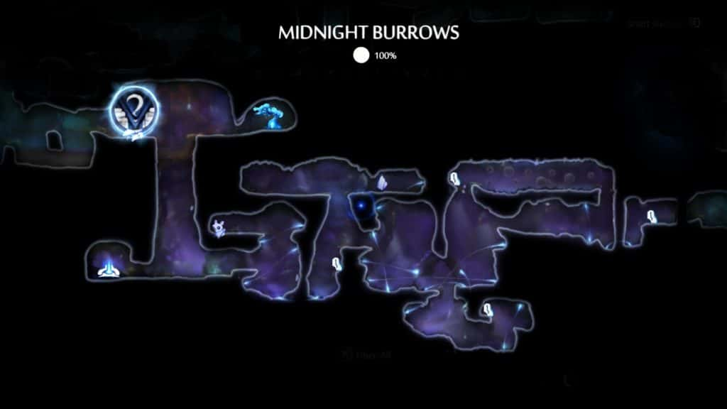 Midnight Burrows Map