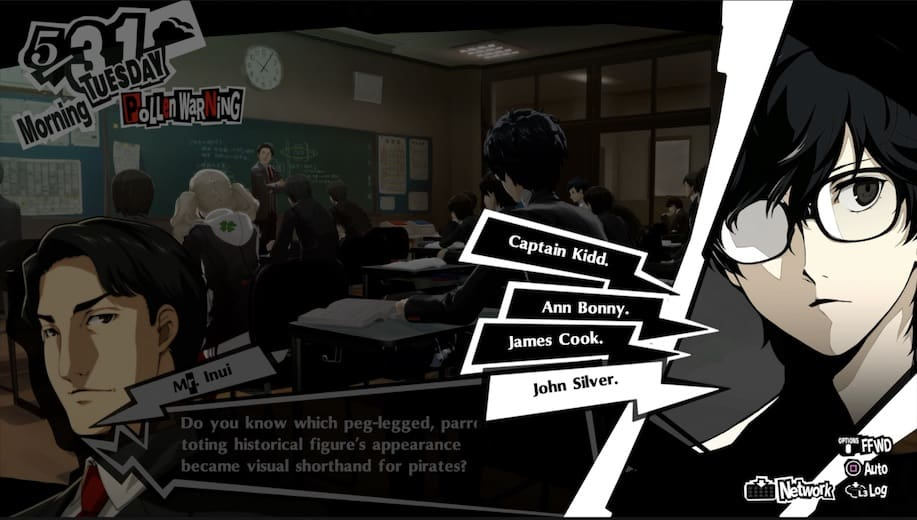 Persona 5 Royal School Answers