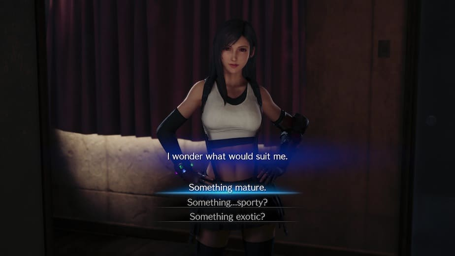 Final Fantasy 7 Remake Tifa's Dress choice